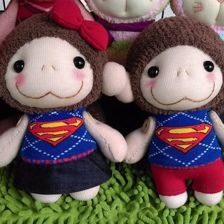 Naughty Monkey Happy Girl & Invincible Brother/Customer/Martin Handmade