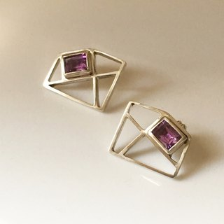 Rectangular Amethyst earrings