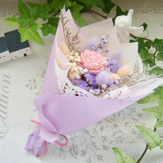 Masako Small Romantic Rabbittail Dry Bouquet Birthday Gift