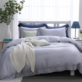 (Double) Early morning shimmer - solid color design Tencel dual-use bedding package four-piece group [60 Tencel]