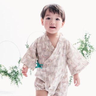 Baby boy cotton onesie Koji