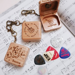 [pick small wooden box] C section / hand made charm texture gift collection hand-burning pattern text custom