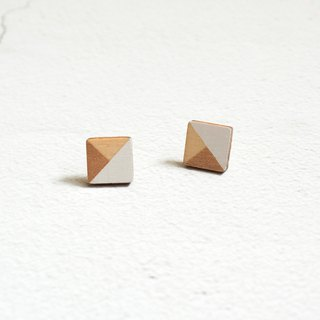 Earrings Stud Earrings Wooden Gilded Geometric Hand Drawn Square Handmade Earrings Ornaments Gifts