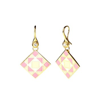 Pop Art Peter Max Cloisonne Earrings (gold) -18,104,151,094