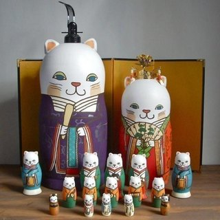 MATRYOSHKA 17sets Cat Hina Doll