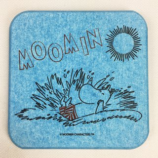 Moomin glutinous rice authorized - diatomaceous earth water coaster (blue), AE05
