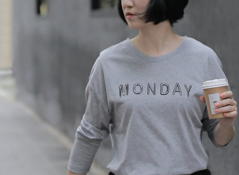 Taiwan Black Bear Monday Long Sleeve T-Shirt