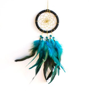 Dream Catcher 8cm - Low-key black gold (exclusive design) - birthday gift, Christmas present