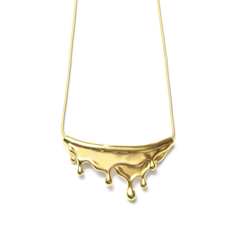 Meltwater Necklace Golden Drop Necklace