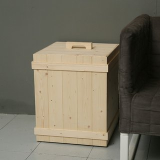 Wooden bucket / trash / laundry bucket / storage bucket