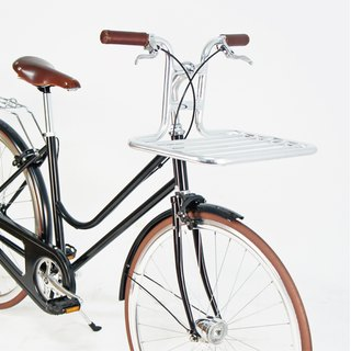 SE ic | Vintage retro handmade fashion city car + aluminum bicycle basket