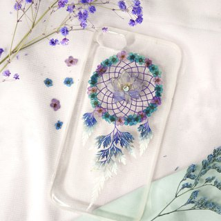 Pressed Flower Dreamcatcher Phone Case | Blue & Purple