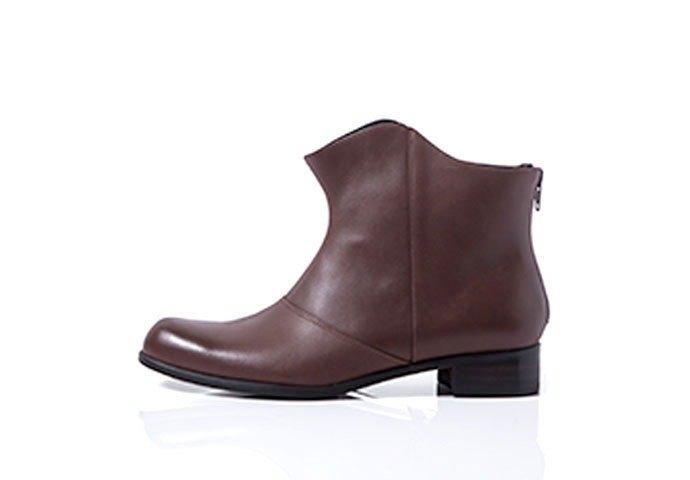 NOUR boot / NOUR 短靴 - shadow boot 倒影短靴 - Umber 紅咖啡色