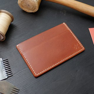 [Christmas limited offer] [皓革鞄所] Simple business card holder - brown