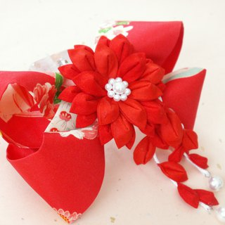 """Resale"" Ribbon Valletta made from knife wrapping old cloth <red> Perfect for graduation ceremony ♪"