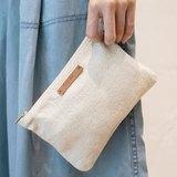 閒適樂活小布包 ( Firendly Easy Clutch Bag ) - 米白