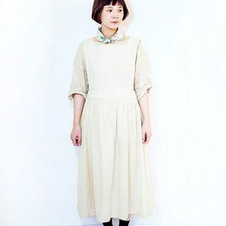 KIKONO original apron one piece - nature white