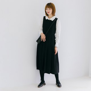 Worsted pleated pleated dress|dress|autumn|wool+cotton|independent brand|Sora-179