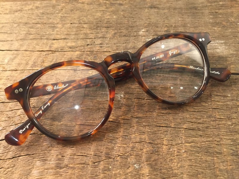 Absolute Vintage - Gage Street Round Frame Glasses - Tort Light Brown