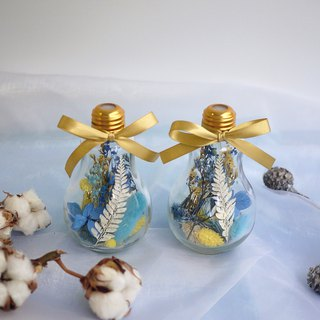 Pieces of praise - ice gold Christmas glass bulb drying table flower wedding small objects