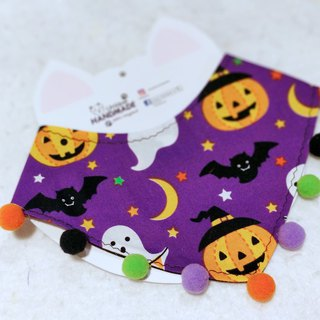 Halloween Halloween double-sided triangle pet shape neck scarf neckwear
