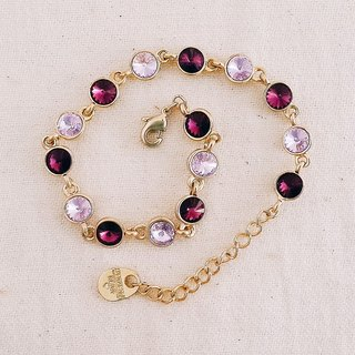 momolico SWAROVSKI Swarovski crystal bracelet purple magic