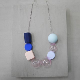 Marshmallow Glass Necklace - PING PONG 011