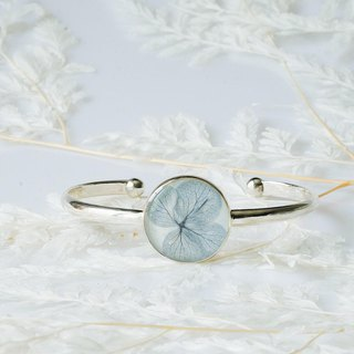Basic Bangle - Hydrangea (925 Sterling Silver)