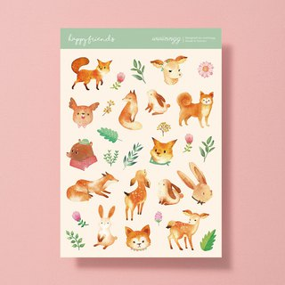 Cutout stickers - Happy friends forest friends