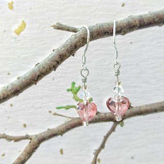 Love your heart Swarovski crystal earrings ear clip can be changed