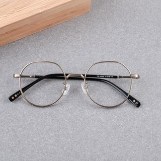 South Korea's new large frame round frame titanium frame, the face is not worried about men and women can wear