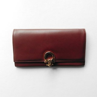 A ROOM MODEL - VINTAGE, BD-0504 Salvatore Ferragamo coffee long red folder
