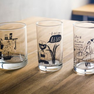Illustrated Glass Set