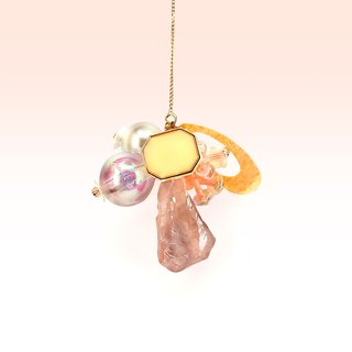 Blossom candy. Honey water droplets earrings