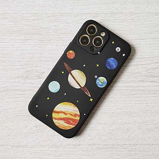 Space Planet Black hard Phone Case Cover iphone X 8 8+ 7 7+ 6 6s Plus S9 S8 Note