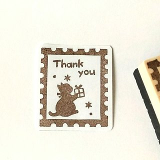 Stamp-style kitty's Thankyou gamba