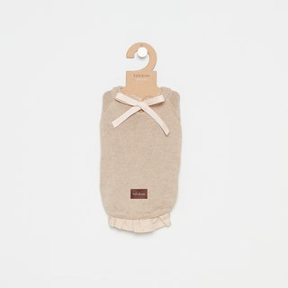 [Tail and me] pet clothes bow sweater khaki