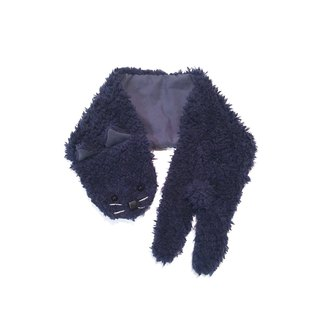 Muffler of the dog cat   Navy-blue