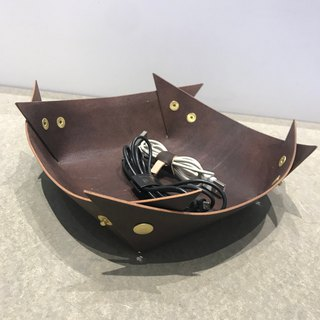 Handmade custom leather storage box storage basket can be changed