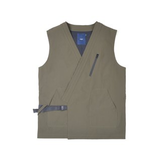 oqLiq - AdHeRe - Very Flat Open Vest (Army Green)