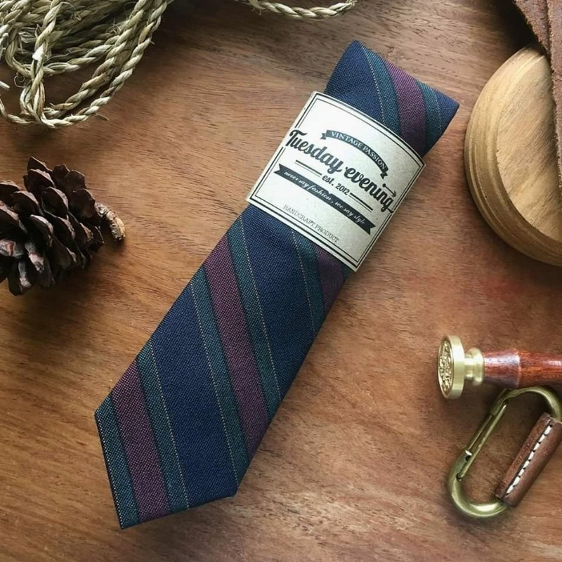 Necktie Blended RGB Stripe (Red Green Blue)