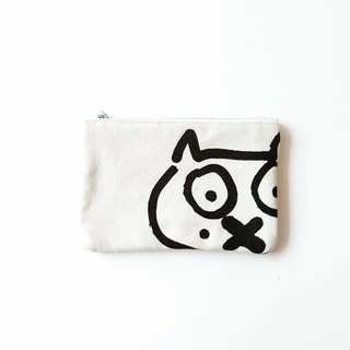 Retro pouch black and white cat mobile phone jewelry zipper bag DIY
