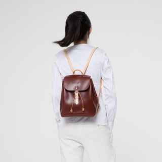 Original handmade vegetable tanned cowhide backpack wild leather shoulder travel backpack female