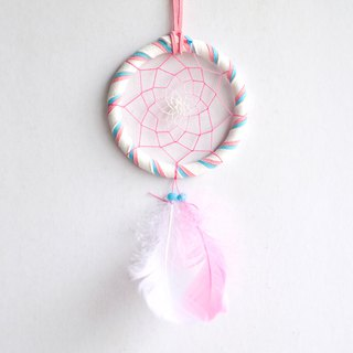 Dream Catcher 8cm - Gradient Line - Fantasy Marshmallow (not equal to three colors)