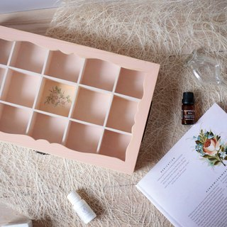 Romantic retro European-style jewelry storage box glass wood ring necklaces