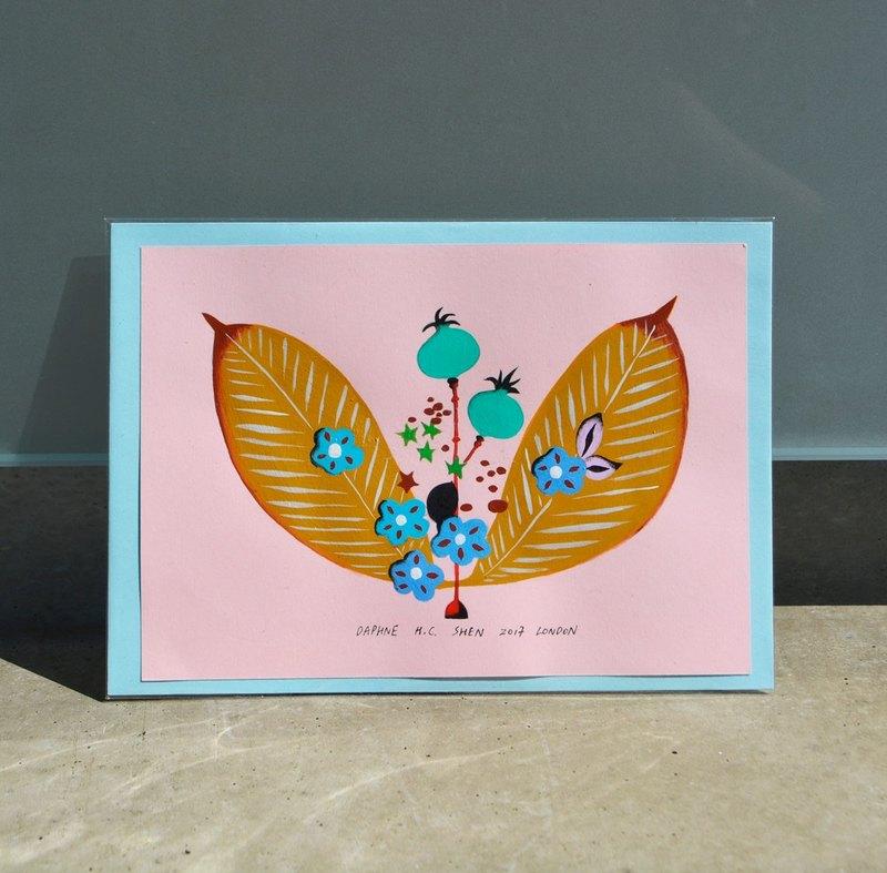 東方 粉紅 插花 花卉 可愛童話 紙上作品 西洋情人節禮物