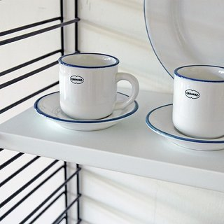 Cabanaz - ESPRESSO CUP / SAUCER Espresso cup with saucepan / coconut white
