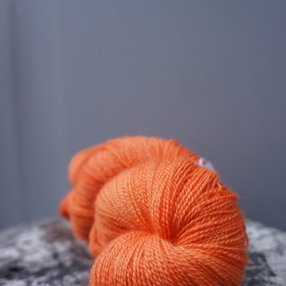 Hand-dyed lace line. Orange (BFL / Silk)