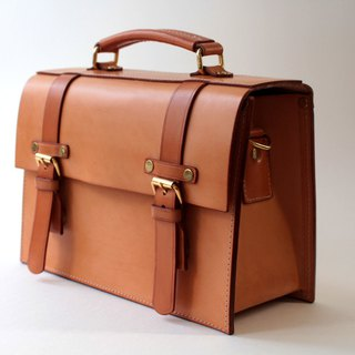 MOOS one shoulder retro box type Italian vegetable tanned saddle leather camera bag primary color