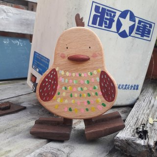 【Original. Wood】 two-color child care _ self-driving toys chick yoyo (with sloping plate)